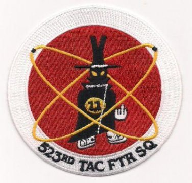 USAF 523rd Tactical Fighter Squadron 523 TFS - Super Sabre F-4 Patch