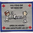 USMC AH-17 USS Sanctuary Hospital Ship Patch