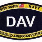 US Navy Disabled American Veteran MOS DAV Patch
