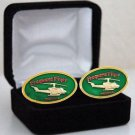 United States Frequent Flyer Vietnam Military Helicopter Cuff Links
