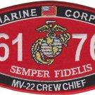 USMC MV-22 Crew Chief 6176 MOS Patch