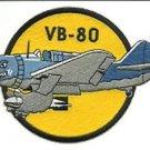 US Navy VB-80 Dive Bomber Squadron 80 Patch
