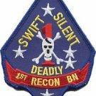 USMC 1st Reconnaissance Battalion Swift Silent Deadly Patc