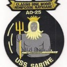 US Navy AD-25 USS Sabine Cimarron-Class Fleet Replenishment Oiler Patch