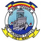 US Navy Naval Mine Division MINDIV 112 MSB Vietnam Patch