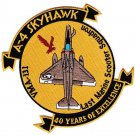 USMC VMA-131 Attack Squadron One Three One A-4 SKYHAWK LAST MARINE SCOOTER Patch