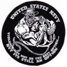 """US Navy Naval Veterans VIOLENCE MAY NOT BE THE BEST OPTION 6"""" Back Patch"""