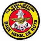U S Navy NAVAL STATION Rota Spain BASE NAVAL DE ROTA Patch