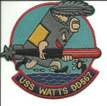 US Navy DD-567 USS Watts Fletcher-Class Destroyer Patch