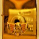 Polished Chrome Honda GL1500 Goldwing Motorcycle Emblem Gold Color Lighter