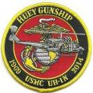 USMC Huey Gunship UH-1N 1969-2014 Patch