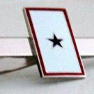 1 Blue Star Service Flag Military Tie Clip