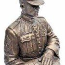 USMC Honor Guard Flag Bearer Bronze Statue
