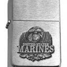 Brushed Chrome Star United States Marines Eagle Lighter