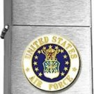 USAF United States Air Force Emblem Brushed Chrome Lighter