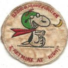 US Army Bronco Night Fighter Snoopy I Get Mine At Night Vietnam Vintage Patch