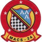USMC MACS-24 Marine Air Control Squadron Patch