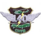 US Army 140th Aviation Transport Company Military Patch VIETNAM CHFM