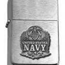 Brushed Chrome Star United States Navy Eagle Lighter