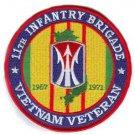 US Army 11th Infantry Brigade Vietnam Veteran Patch