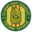 US Army First Sergeant Vietnam Veteran Patch