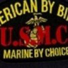 US Marine Corps American By Birth Marine By Choice Black