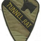 US Army Infantry 1st Cavalry Tunnel Rat Military Insignia Vietnam War OD Patch
