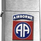 US Army 82nd Airborne Division Brushed Chrome  Lighter