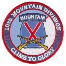 US Army 10th Mountain Division Patch with Rifles Patch