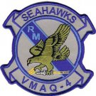 USMC VMAQ 4 Marine Tactical Electronic Warfare Squadron Seahawks Patch