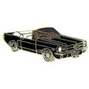 Ford Mustang 1965 Convertable Black Car Emblem Pin Pinback