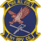USMC 1st RPV Co. Remotely Piloted Vehicle Company See All Evil Patch