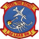 USMC 3rd LAAD Low Altitude Air Defense Battalion Feel the Sting Patch