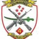 USMC 3rd Battalion 23rd Marines 4th Marine Division Patch Mac