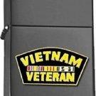 Matte Black Vietnam Veteran with Ribbons Star Lighter