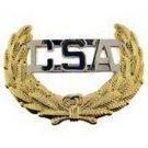 CSA Civil War Military Cap Badge Pin