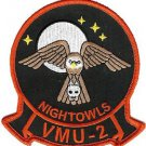 USMC VMU 2 Marine Unmanned Aerial Vehicle Squadron Night Owls Patch