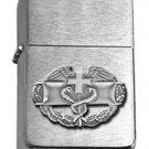 Brushed Chrome Army Combat Medical Badge Star Lighter - ANTIQUE SILVER