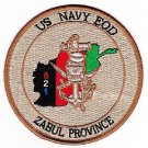 US Navy EOD Explosives Ordinance Disposal Zabul Province Desert Patch