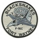 USAF Fort Wayne Ang F 16C 122nd Fighter Wing Blacksnakes Vintage Patch