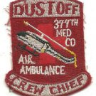 US Army 377th Med Co Air Ambulance Crew Chief Helicopter Vintage Vietnam Patch