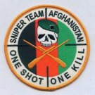 Sniper Team Afghanistan One Shot One Kill Military Patch