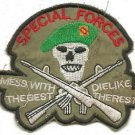 US Army Special Forces Mess with the Best Die Like the Rest Patch