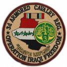 US Army 3rd Armored Cavalry Regiment Operation Iraqi Freedom Patch