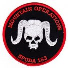 US Army Co B  2nd Bn 1st SFG SFODA - 153 Patch MOUNTAIN OPERATIONS