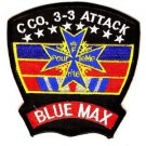 US Army 3rd Battalion 3rd Aviation Attack Regiment C Company Patch BLUE MAX 1