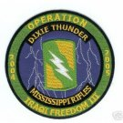 US Army MISSISSIPPI RIFLES DIXIE THUNDER PATCH IRAQ OIF D5 OIF Patch