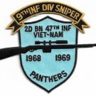 US Army 2nd Battalion, 47 Infantry Regiment Panthers 9th Inf Div Sniper Vietnam