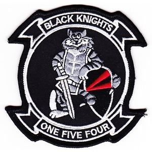US NAVY VF-154 Aviation Fighter Squadron One Five Four Patch Tomcat Black Knight