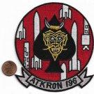 US NAVY ATKRON 196 VA-196 Aviation Attack Squadron Devils Spade Patch